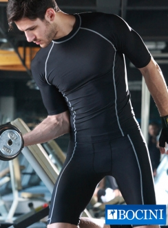 Mens Compression Mid Shorts