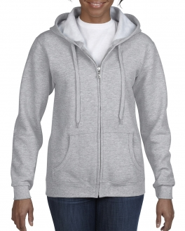 18600FL Ladies' Full Zip Hooded Sweatshirt