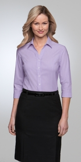 2265CC1 City Stretch Pinfeather Three Quarter Sleeve Larger Size