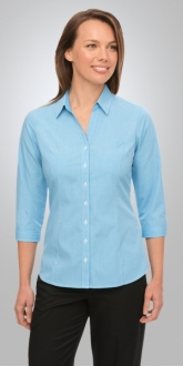 2444CC Pippa Check Ladies Shirt 3/4 Sleeve