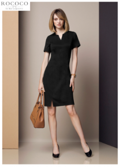 30620 Ladies Open Neck Dress