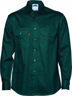3202 Cotton Drill Work Shirt LS