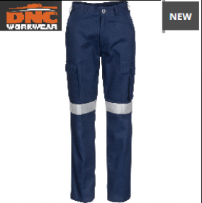 3323 Ladies Cotton Drill Cargo Pants with tape