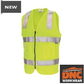 3507 Day/Night Side panel safety Vest with tape