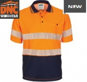 3517 HiVis Segment Taped Cotton Back Polo SS