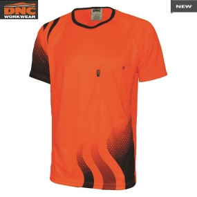 3562 Wave HiVis Sublimated Tee