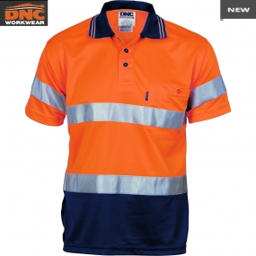 3715 HiVis D/N Breathe Polo Shirt tape SS