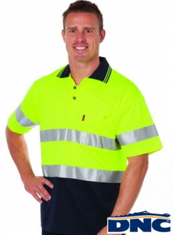 3717 Cotton Back HiVis Reflective Polo