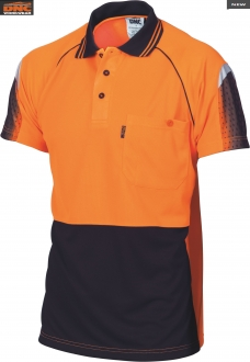 3751 HiVis Cool Breathe Sublimated Piping Polo SS