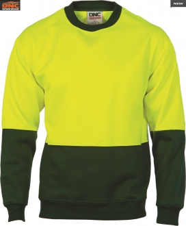 3821L HiVis 2 Tone Sweat Shirt Crew Neck