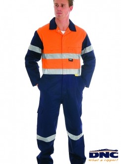 DNC HiVis Cotton Coverall with 3M R/Tape
