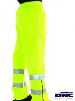 DNC HiVis Breathable R/Tape Rain Trousers