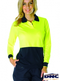3898 DNC Ladies HiVis L/S Polo