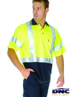 3912 DNC HiVis D/N Polo Shirt with Cross Back