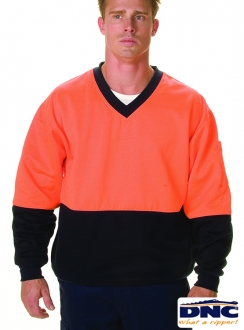 3922 HiVis Cotton Fleecy Sweat Jumper