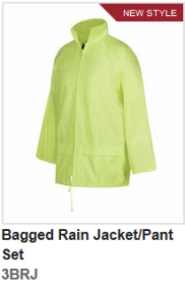 3BRJ Bagged Rain Jacket/Pant Set
