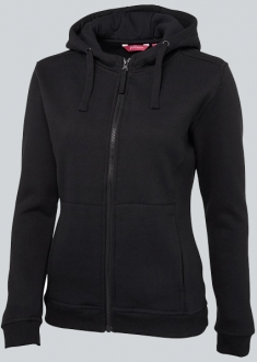 3HJ1 Ladies Full Zip Fleecy Hoodie