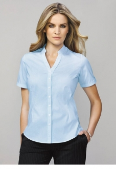 40112 Bordeaux Ladies Short Sleeve Shirt