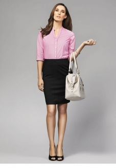 40114 Bordeaux Ladies 3/4 Sleeve Shirt