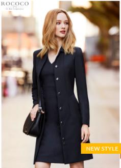63830 Ladies Rococo Lined Overcoat