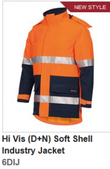 6DIJ Hi Vis (D+N) Softshell industry Jacket