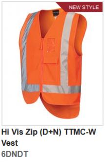 6DNDT Hi Vis Zip (D+N) Vest