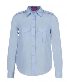6ESL1 Ladies L/S Epaulette Shirt