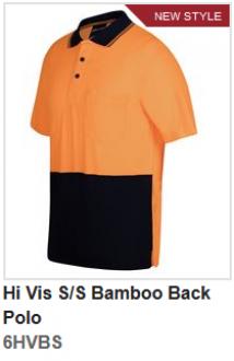 6HVBS Hi Vis SS Bamboo Back Polo