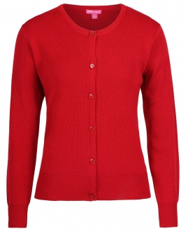 6L1CN Corporate Crew Neck Cardigan Ladies