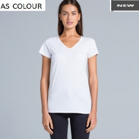 AS4010 Bevel V-Neck Ladies Tee