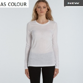 AS4026 Fine Long Sleeve Tee Ladies