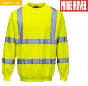 B303 Hi Vis Sweat Shirt with tape