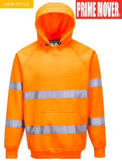 B304 Hi Vis Hooded Sweatshirt with tape