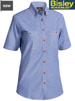 B71407L Womens Chambray Shirt SS