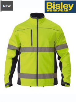 BJ6059T Hi Vis Soft Shell Jacket Taped