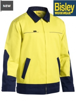 BJ6917 Hi Vis Drill Jacket with Liquid Repellant Finish