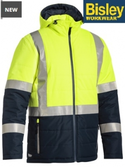 BJ6929HT Hi Vis Puffer Jacket Taped