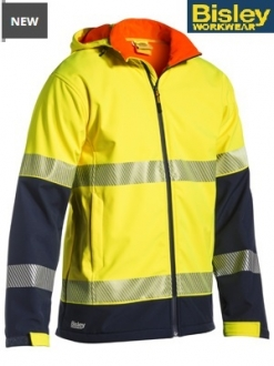 BJ6934T Hi Vis Ripstop Bonded Fleece Jacket with 3M Tape