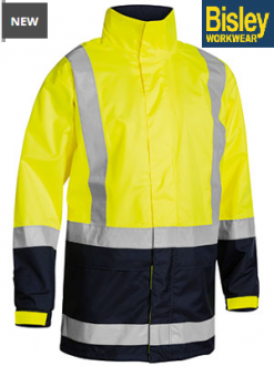 BJ6966T Hi Vis Rain Shell Jacket Taped