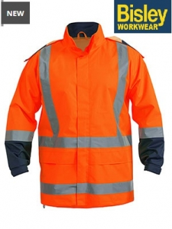 BJ6967T Hi Vis Rain Shell Jacket Taped