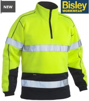BK6989T Hi Vis Fleece Zip Pullover Taped