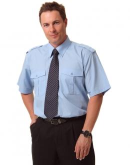 BS06S Unisex S/S Epaulette Shirt