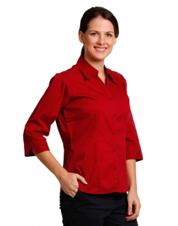 BS07QL Ladies Teflon Executive 3/4 Sleeve Larger