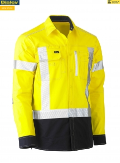 BS6177XT FLEX & MOVE X TAPED HI VIS UTILITY SHIRT L/S