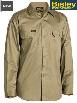 BS6893 Cool Lightweight Drill Shirt LS