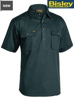 BSC1433 Closed front Cotton Drill Shirt