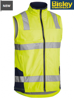 BV0348T Hi Vis Softshell Vest with tape