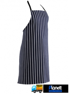 CAFE STRIPE BIB APRON