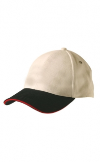 Two Tone with Contrast Sandwich Peak Cap