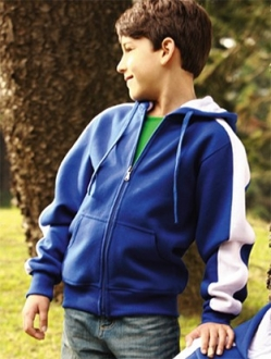 CJ1222 Contrast Fleece Kids